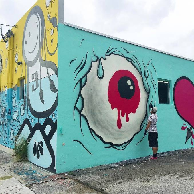 street art avenue - mosaic - buff monster - wynwood - miami
