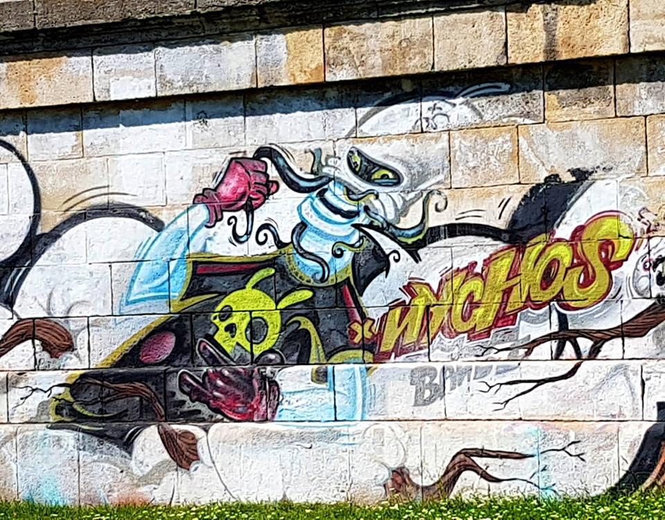 nychos - graffiti - street art - vienne - danube