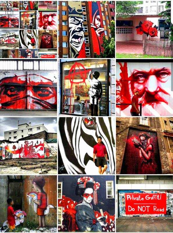 street art avenue - mosaic - red - septembre 2017