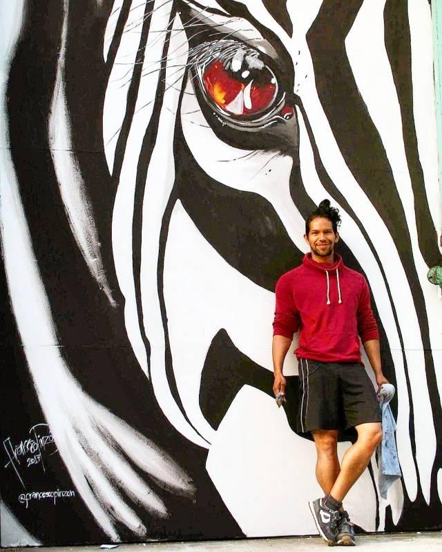 street art avenue - mosaic - francesco pinzon - nau bostik - barcelone 2017