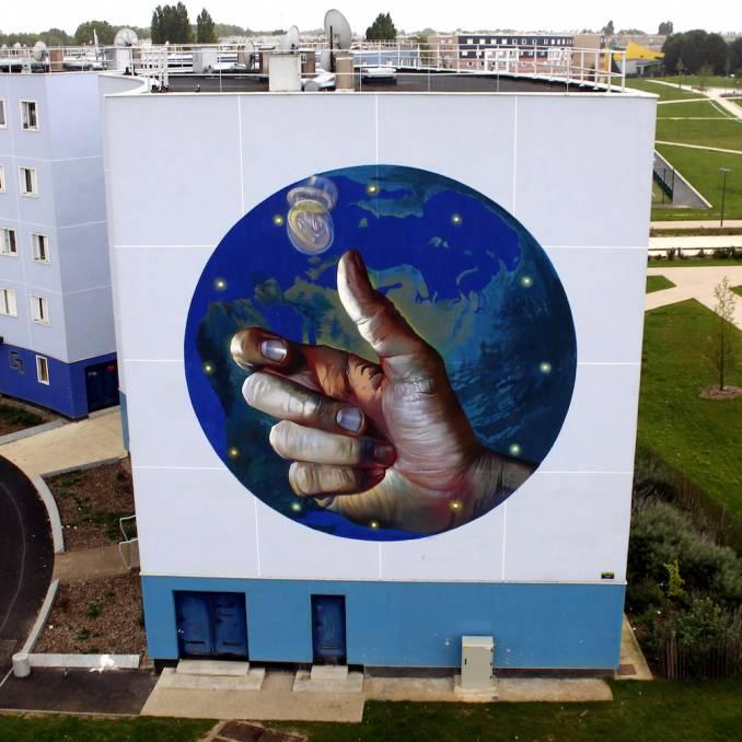 case maclaim - wall street art festival - grigny