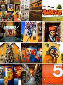 street art avenue - mosaic - orange - octobre 2017