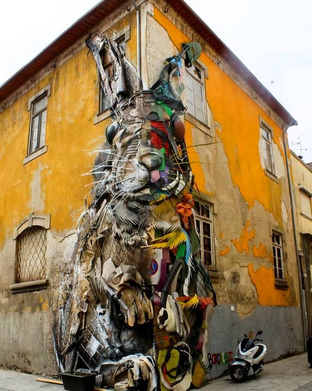 bordalo II - street art - Gaia Todo Um Mundo Festival.