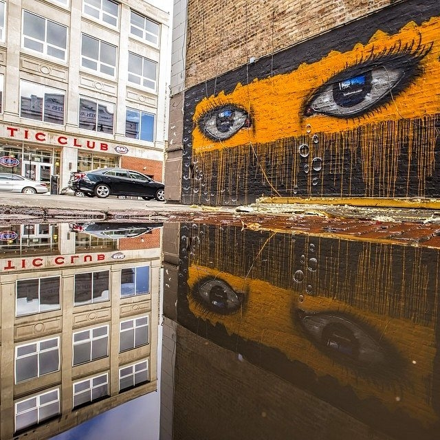 my dog sighs - street art - chicago