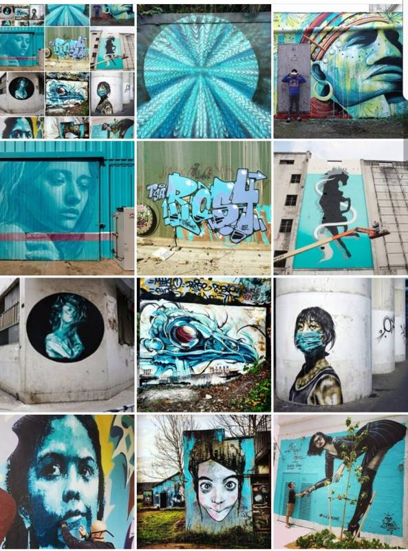 street art avenue - mosaic - turquoise - octobre 2017