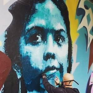 guy denning - street art - upfest 2017 - bristol