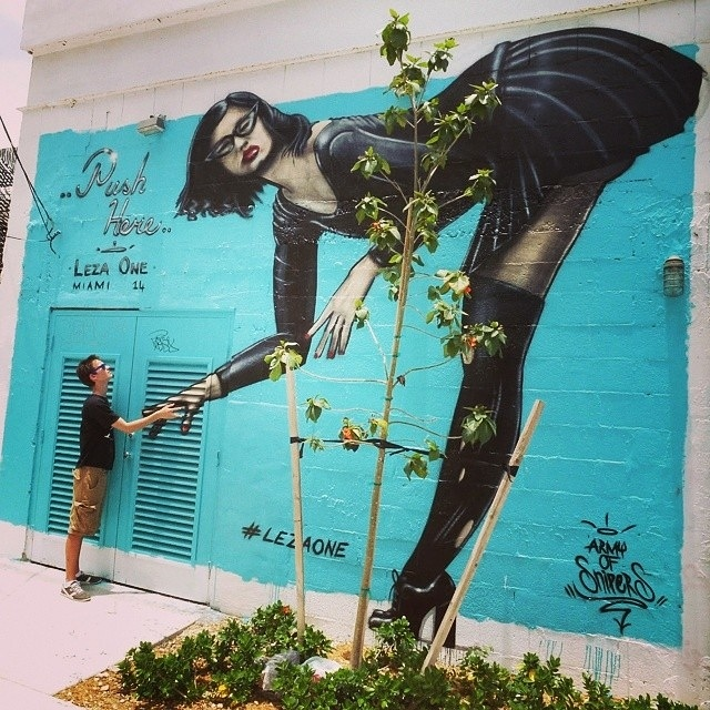 leza one - street art -wynwood - miami