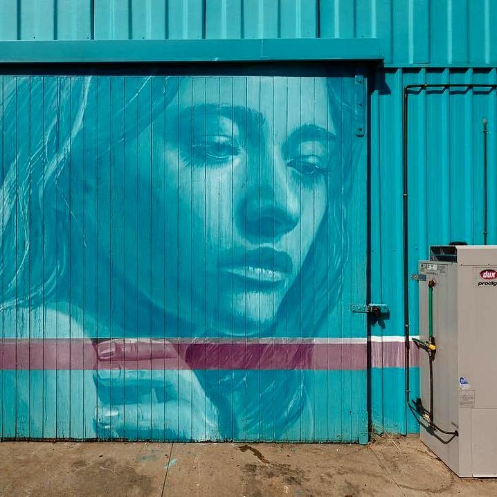 rone - street art - wall to wall festival - benala - australia