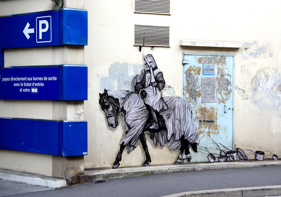levalet - street art - battre en retraite - reims