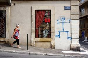 levalet - street art - cherchez l'inspiration - k-live festival - sete
