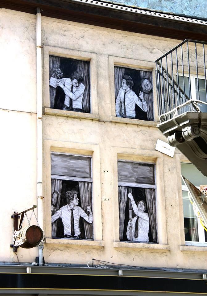 levalet - street art - coexistence - ostende