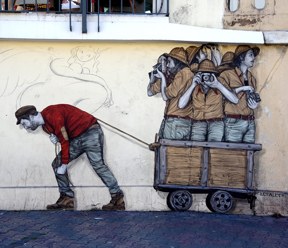 levalet - street art - colonisation - k-live festival - sete