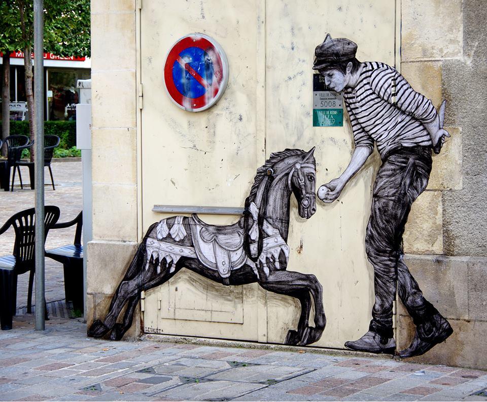 levalet - street art - domestication - reims