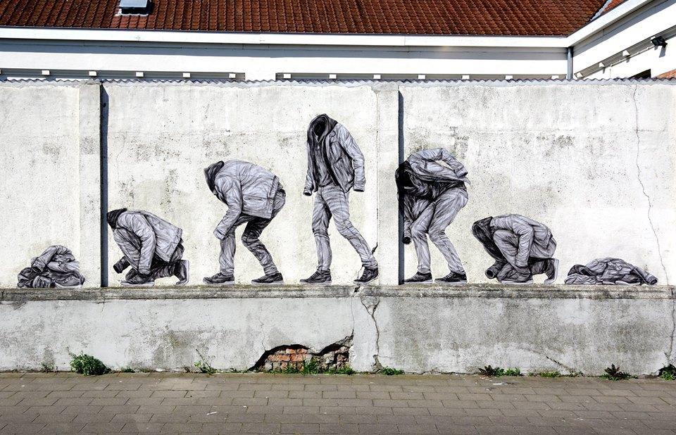levalet - street art - dust to dust - ostende