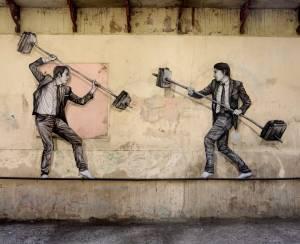 levalet - street art - la joute - k-live festival - sete