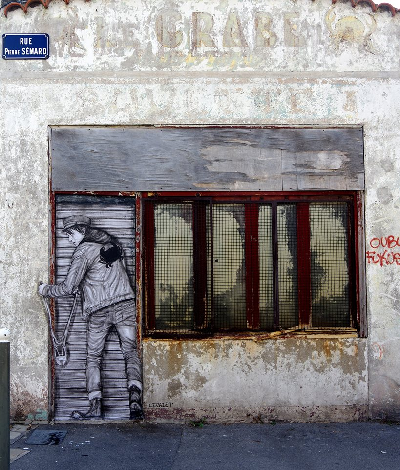 levalet - street art - le crabe - k-live festival - sete