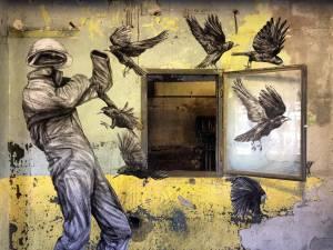 levalet - street art - le retour du refoulé - urbanart biennale - volklingen