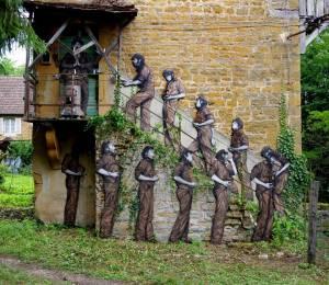 levalet - street art - le saint patron - mausa - les forges de baudin