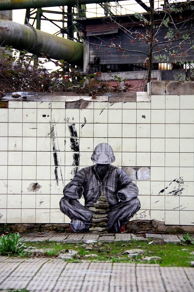 levalet - street art - reconstruction - urbanart biennale - volklingen