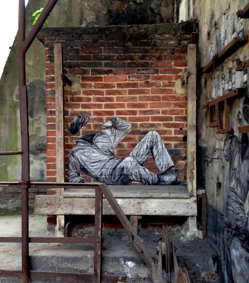 levalet - street art - le secret de stakhanov - urbanart biennale - volklingen