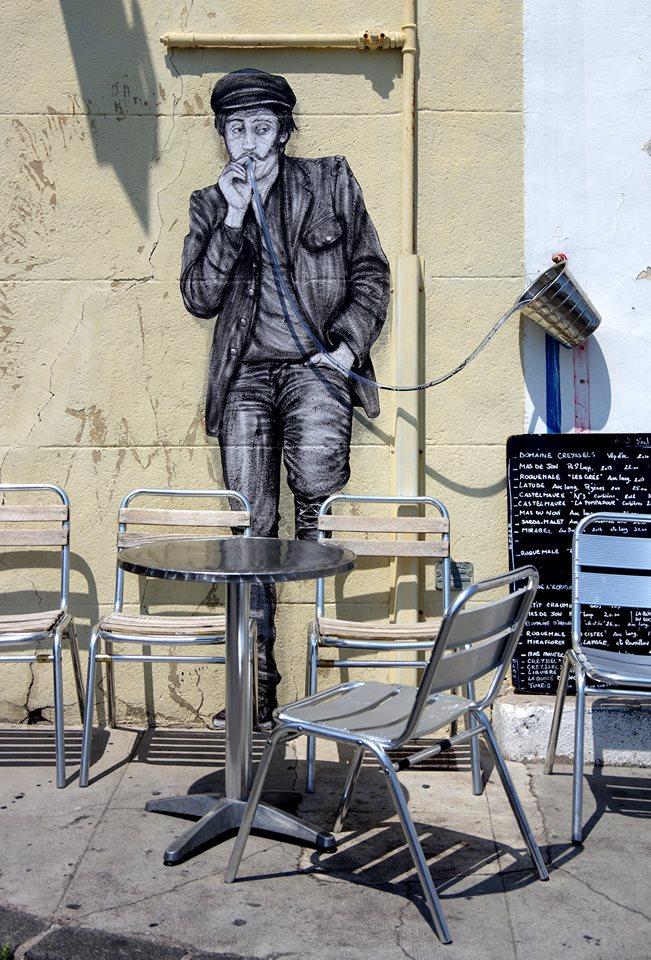 levalet - street art - something strong - k-live festival - sete