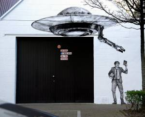 levalet - street art - to believe - ostende