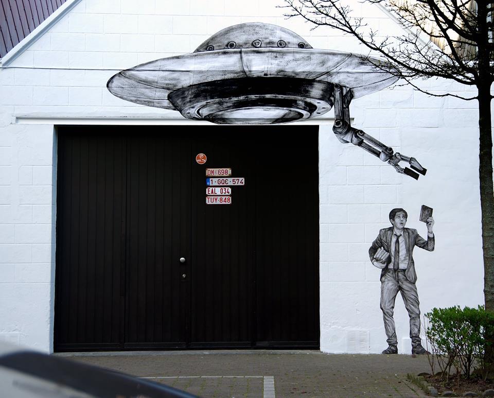 levalet - street art - to believe - ostende