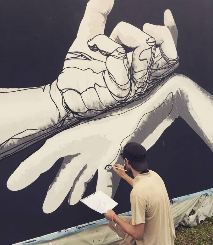 mahn kloix - street art avvenue - mosaic - rock en seine - paris