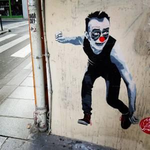 miguel donvez - mimi le clown - street art avvenue - mosaic - paris