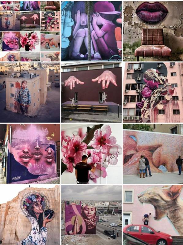street art avenue - mosaic - pink - décembre 2017