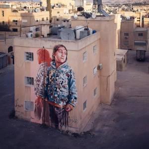 fintan magee - street art avenue - pink mosaic - amman