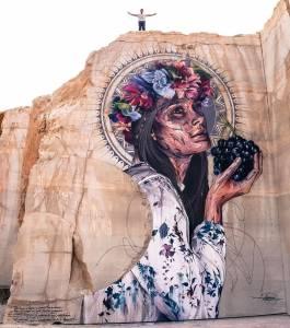 hopare - street art avenue - pink mosaic - villars fontaine