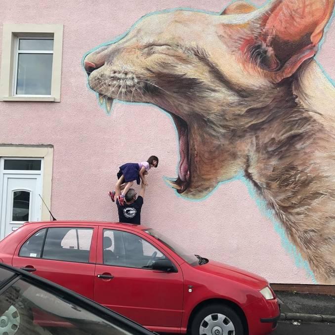 irony - boe - street art avenue - pink mosaic - upfest - bristol
