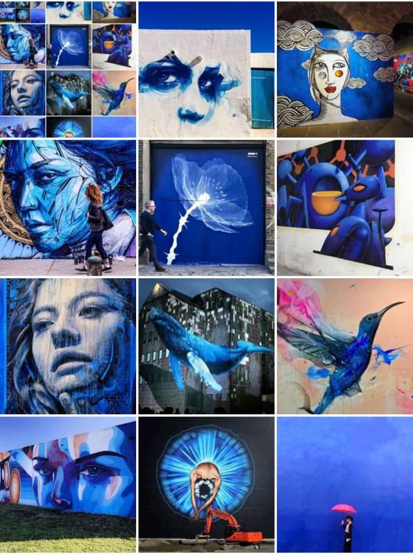 street art avenue - mosaic - depp blue - fevrier 2018