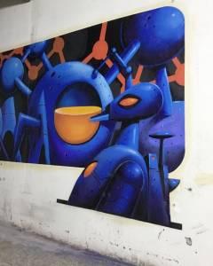 street art avenue - mosaic - dino voodoo - fondation martel - cognac