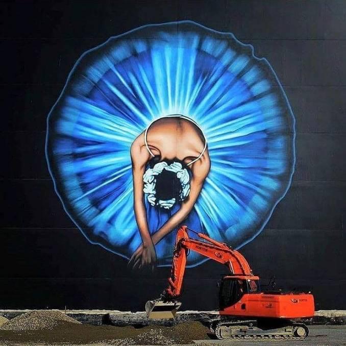 street art avenue - mosaic - owen dippie - christchurh - new zeland