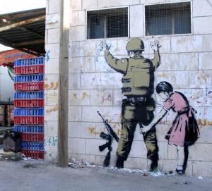 banksy - street art - graffiti - bethleem - west bank - soldier