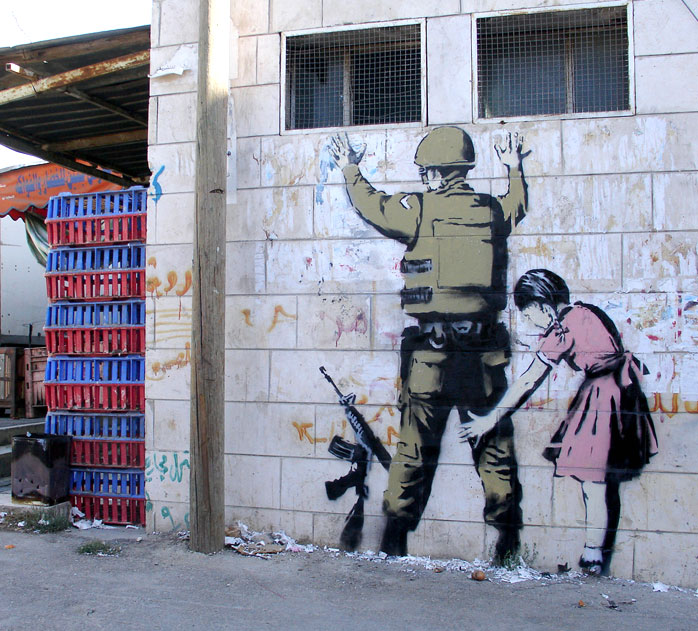 banksy - street art - graffiti - bethleem - west bank - soldier