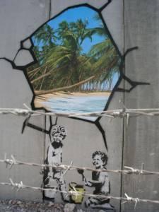 banksy - street art - graffiti - west bank - santa's ghetto