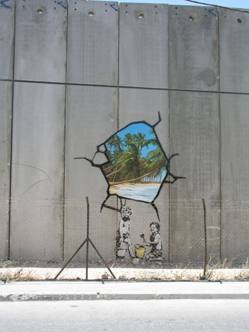 banksy - street art - graffiti - west bank - santa's ghetto