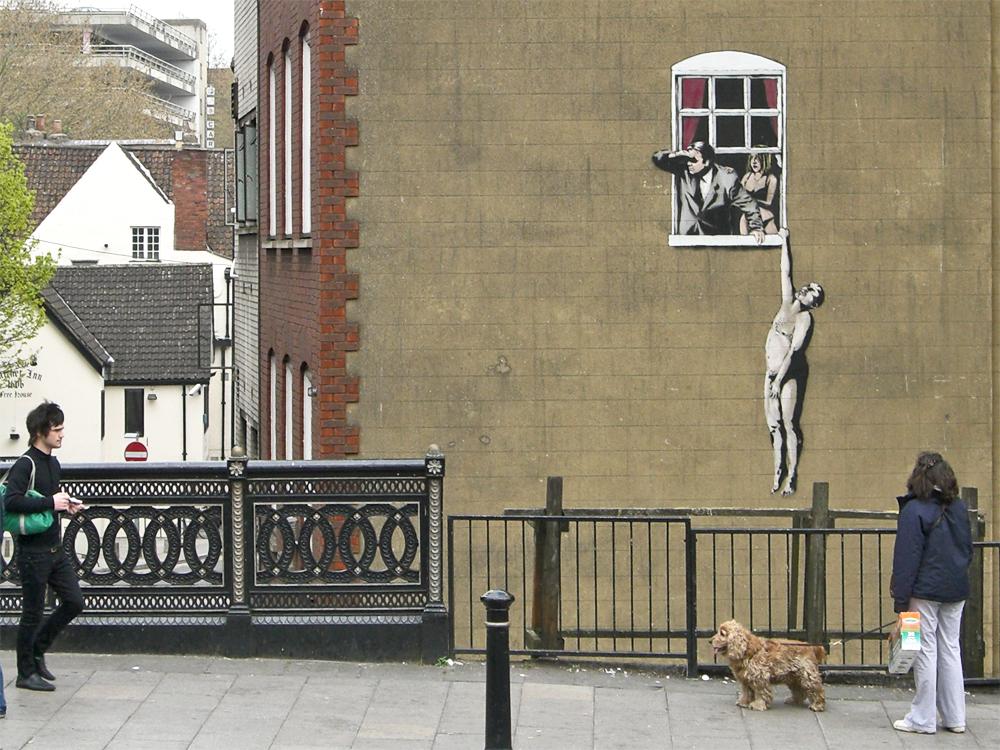 banksy - street art - graffiti - bristol
