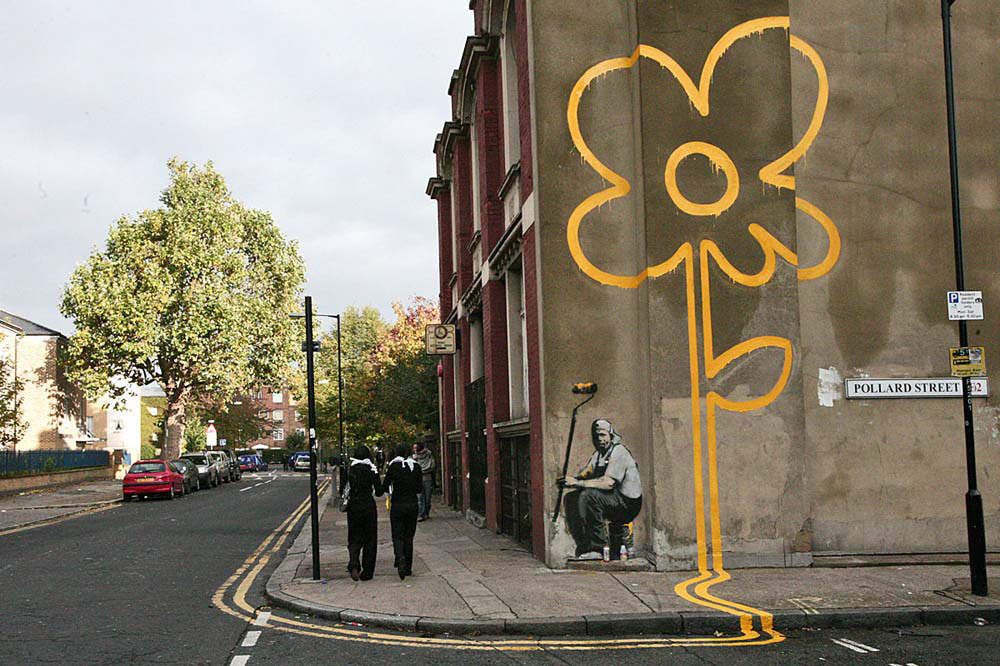 banksy - street art - graffiti - london - pollard street