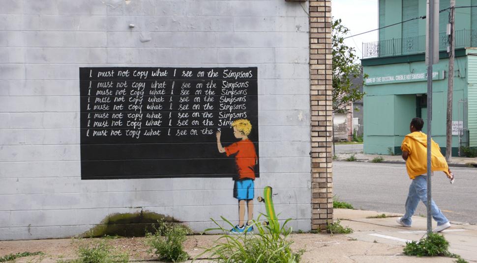 banksy - street art - graffiti - new orleans - bart