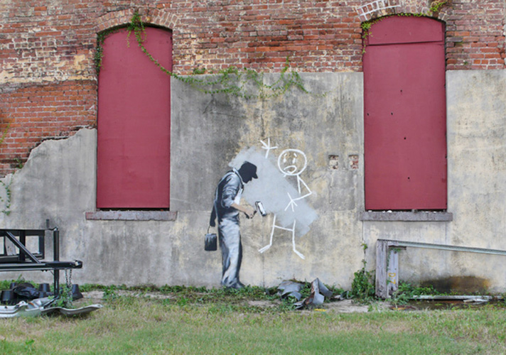 banksy - street art - graffiti - new orleans - ghost