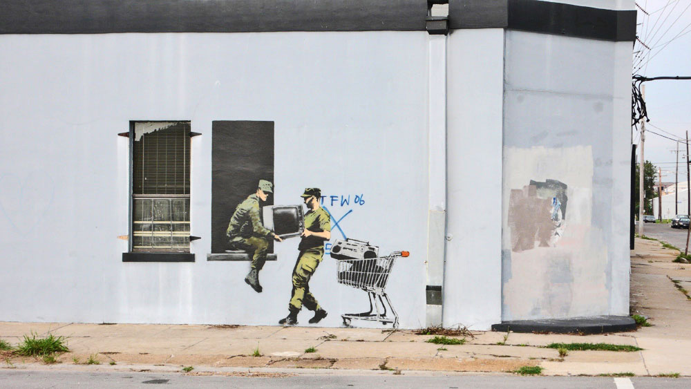 banksy - street art - graffiti - new orleans - looters