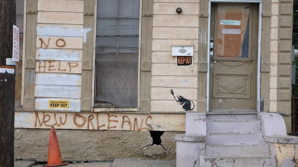 banksy - street art - graffiti - new orleans - rat