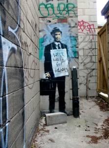 banksy - street art - graffiti - toronto - idiots