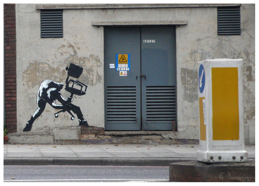 banksy - street art - graffiti - london - the clash