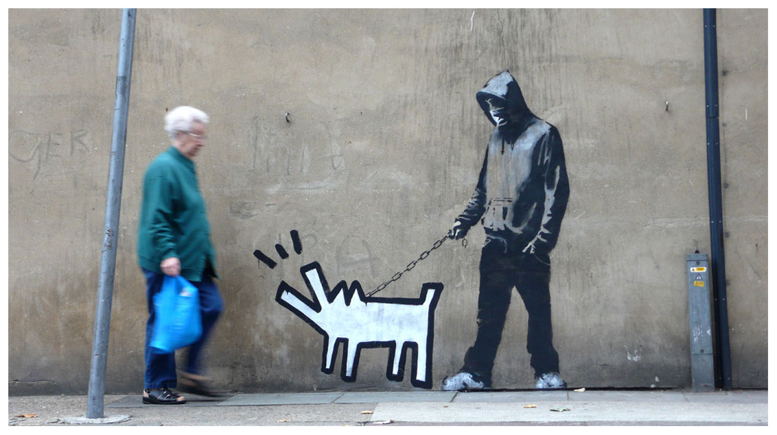 banksy - street art - graffiti - london - haring dog