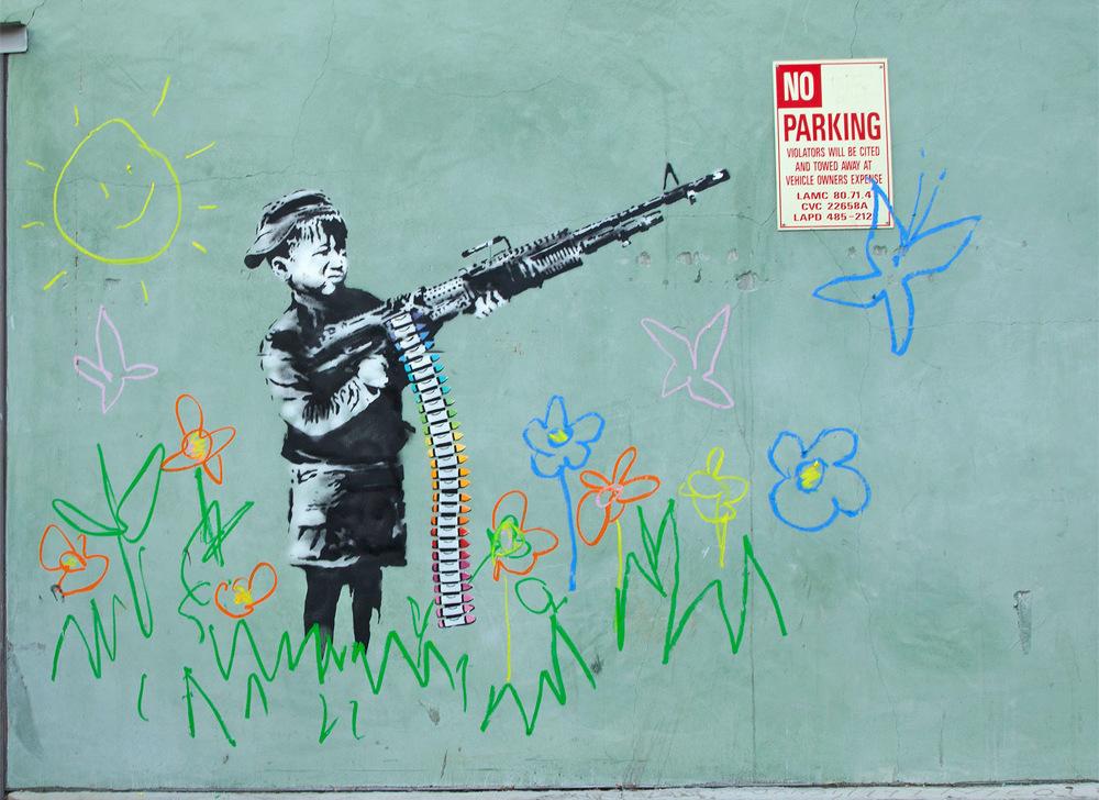 banksy - street art - graffiti - los angeles